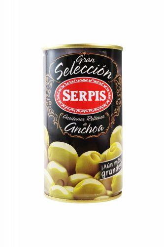 Zelené olivy plněné ančovičkami - GRANDES