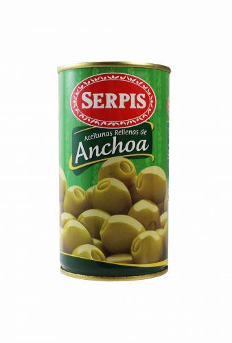 Zelené olivy plněné ančovičkami