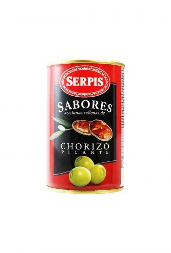 Olivy plněné pikantním chorizem